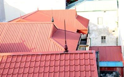 chống sét nhà mái tôn