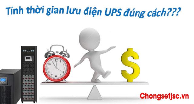 Công thức tính thời gian lưu trữ của UPS